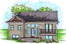 Dream House Plan - Ranch Exterior - Rear Elevation Plan #70-1026