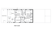 Contemporary Style House Plan - 3 Beds 3 Baths 1400 Sq/Ft Plan #542-21 Floor Plan - Main Floor Plan