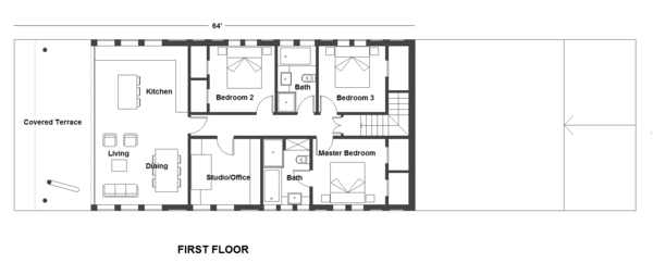 Contemporary Floor Plan - Main Floor Plan Plan #542-21