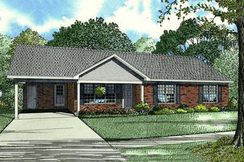 Southern Style House Plan - 3 Beds 2 Baths 1166 Sq/Ft Plan #17-2353