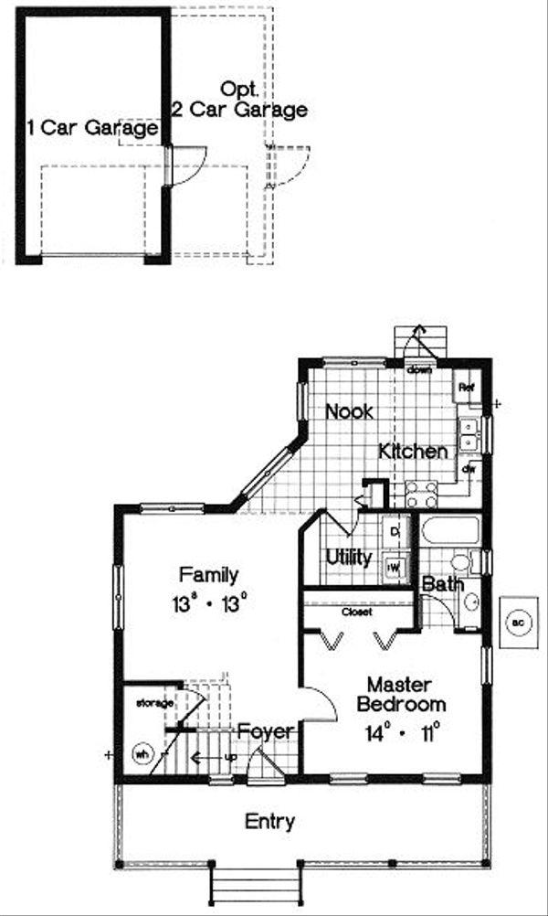 Farmhouse Floor Plan - Main Floor Plan Plan #417-108