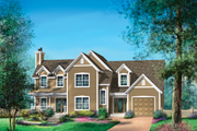 Country Style House Plan - 3 Beds 2 Baths 2119 Sq/Ft Plan #25-4672 Exterior - Front Elevation