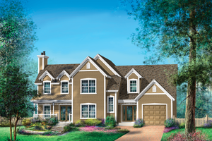 Country Exterior - Front Elevation Plan #25-4672