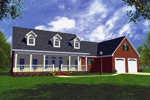 Country Exterior - Front Elevation Plan #21-152