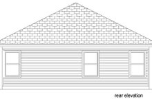 House Plan Design - Traditional Exterior - Rear Elevation Plan #84-541
