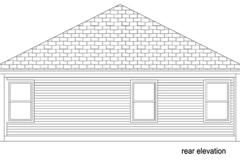 Traditional Exterior - Rear Elevation Plan #84-541 - Houseplans.com