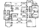 Traditional Style House Plan - 5 Beds 4.5 Baths 3536 Sq/Ft Plan #490-11 Floor Plan - Main Floor Plan