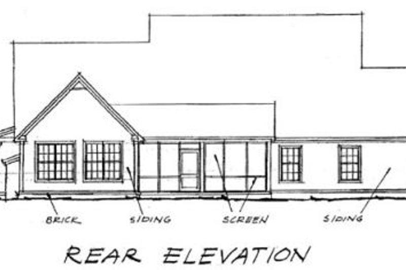 Farmhouse Exterior - Rear Elevation Plan #20-1364 - Houseplans.com