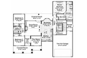 Craftsman Style House Plan - 3 Beds 2 Baths 1816 Sq/Ft Plan #21-303 Floor Plan - Main Floor Plan