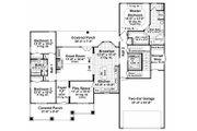 Craftsman Style House Plan - 3 Beds 2 Baths 1816 Sq/Ft Plan #21-303 Floor Plan - Main Floor Plan