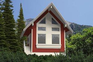 Cabin Exterior - Front Elevation Plan #118-116