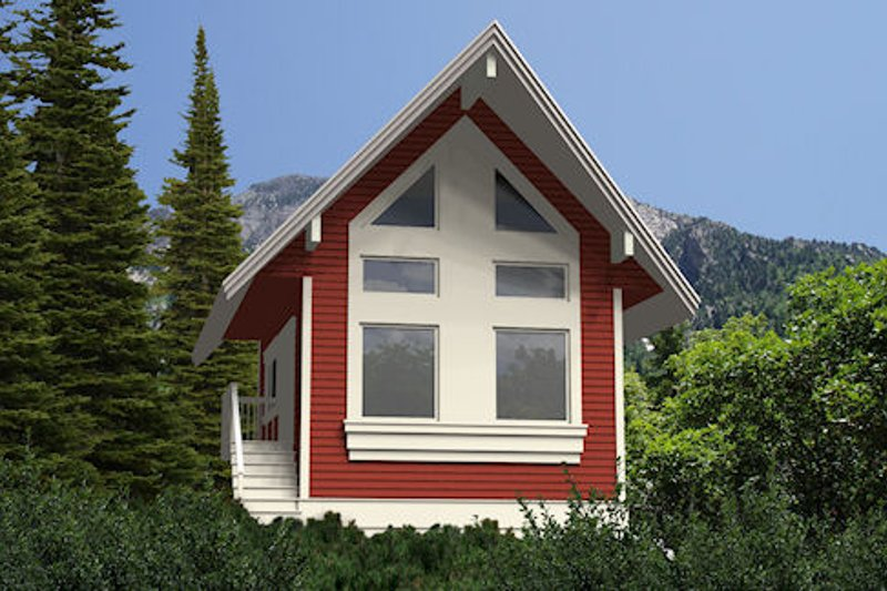 Cabin Style House Plan - 1 Beds 1 Baths 840 Sq/Ft Plan #118-116