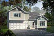 Traditional Style House Plan - 3 Beds 2.5 Baths 1831 Sq/Ft Plan #100-416 Exterior - Front Elevation
