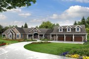 Country Style House Plan - 3 Beds 3.5 Baths 4568 Sq/Ft Plan #124-967 Exterior - Front Elevation