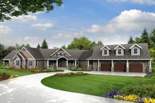 Dream House Plan - Country Exterior - Front Elevation Plan #124-967