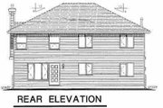 Traditional Style House Plan - 3 Beds 2 Baths 1560 Sq/Ft Plan #18-275 Exterior - Rear Elevation