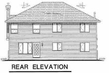Home Plan - Traditional Exterior - Rear Elevation Plan #18-275