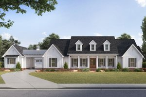 Dream House Plan - Farmhouse Exterior - Front Elevation Plan #1074-3