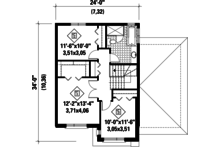 Contemporary Floor Plan - Upper Floor Plan Plan #25-4266