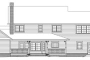 Country Style House Plan - 4 Beds 2.5 Baths 2705 Sq/Ft Plan #11-225 Exterior - Rear Elevation