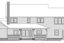 Home Plan - Country Exterior - Rear Elevation Plan #11-225