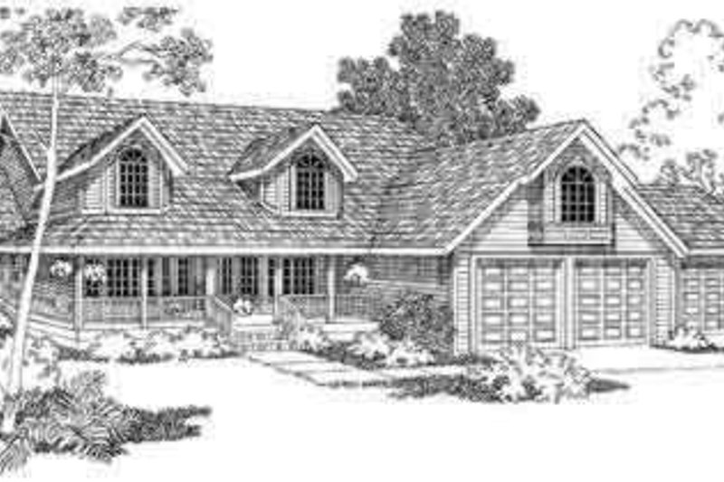 Country Exterior - Front Elevation Plan #124-397 - Houseplans.com