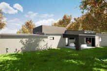 Contemporary Exterior - Rear Elevation Plan #17-3385