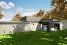House Plan Design - Contemporary Exterior - Rear Elevation Plan #17-3385