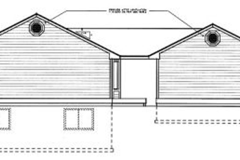 Traditional Exterior - Rear Elevation Plan #97-109 - Houseplans.com