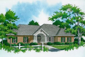 Ranch Exterior - Front Elevation Plan #21-103