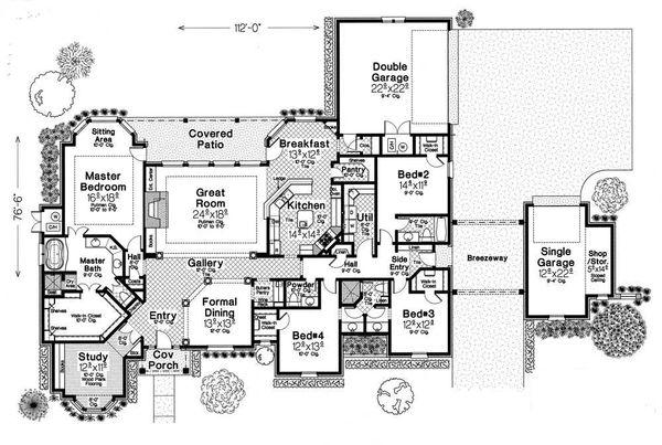 European Floor Plan - Main Floor Plan Plan #310-331