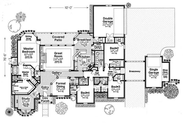 European Floor Plan - Main Floor Plan Plan #310-331