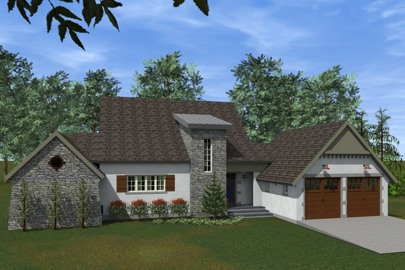 Traditional Style House Plan - 3 Beds 2.5 Baths 2164 Sq/Ft Plan #933-4 Exterior - Outdoor Living