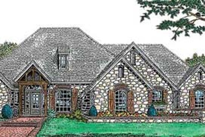 European Exterior - Front Elevation Plan #310-557