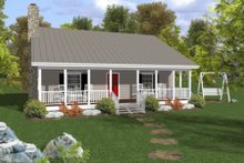 Cottage Exterior - Front Elevation Plan #56-547