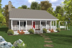 Home Plan Design - Cottage Exterior - Front Elevation Plan #56-547