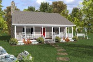 Cottage Exterior - Front Elevation Plan #56-547