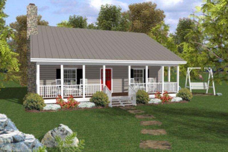 Cottage Exterior - Front Elevation Plan #56-547 - Houseplans.com