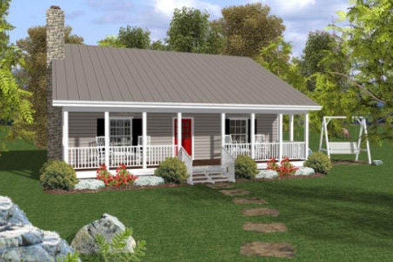 Dream House Plan - Cottage Exterior - Front Elevation Plan #56-547