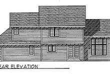 House Plan Design - Traditional Exterior - Rear Elevation Plan #70-222