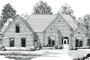 Traditional Style House Plan - 4 Beds 3 Baths 2277 Sq/Ft Plan #424-323 Exterior - Front Elevation