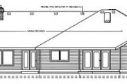 Ranch Style House Plan - 4 Beds 2.5 Baths 3003 Sq/Ft Plan #91-102 Exterior - Rear Elevation
