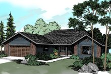 House Plan Design - Ranch Exterior - Front Elevation Plan #124-295