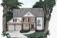 House Plan Design - Southern Exterior - Front Elevation Plan #129-132