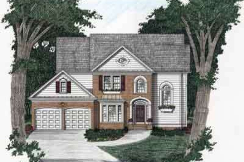 Southern Exterior - Front Elevation Plan #129-132