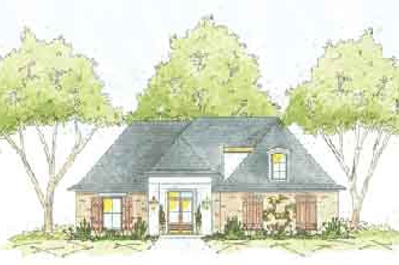 Southern Exterior - Front Elevation Plan #36-429
