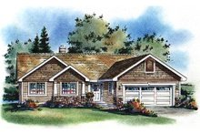 Architectural House Design - Craftsman Exterior - Front Elevation Plan #18-1017
