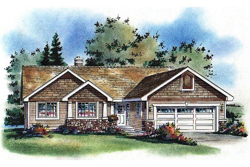 House Blueprint - Craftsman Exterior - Front Elevation Plan #18-1017