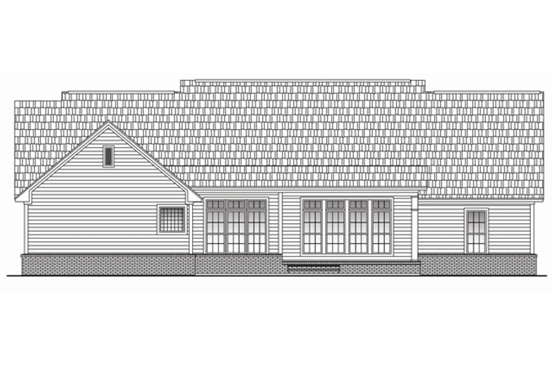 Country Exterior - Rear Elevation Plan #430-47 - Houseplans.com