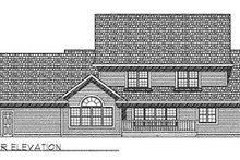 European Exterior - Rear Elevation Plan #70-509